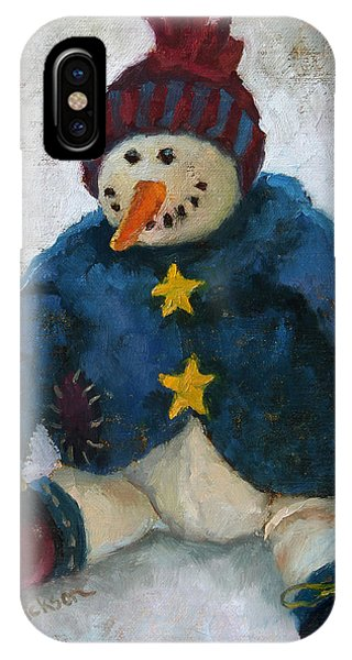 Grinning Snowman IPhone Case