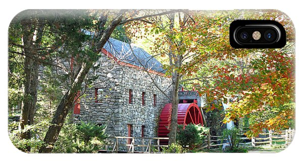 iPhone Case - Grist Mill In Fall by Barbara McDevitt