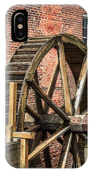 Grist Mill Water Wheel In Hobart Indiana IPhone Case