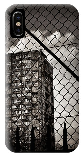 Gritty London Tower Block And Fence - East End London IPhone Case