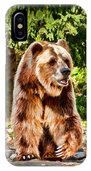 Grizzly Bear - Painterly IPhone Case