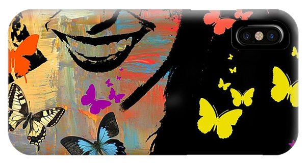 Groovy Butterfly Gal IPhone Case