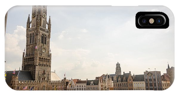 IPhone Case featuring the photograph Grote Markt Brugge by Paul Indigo