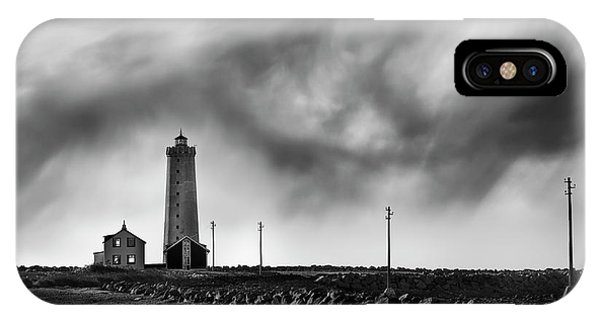 Lighthouse iPhone Case - Grotta Lighthouse by George Digalakis