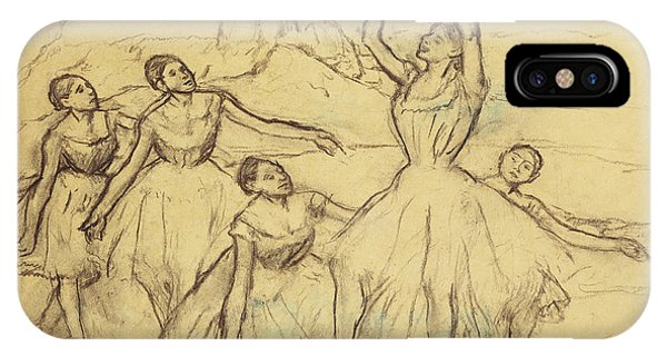 Dance iPhone Case - Group Of Dancers by Edgar Degas
