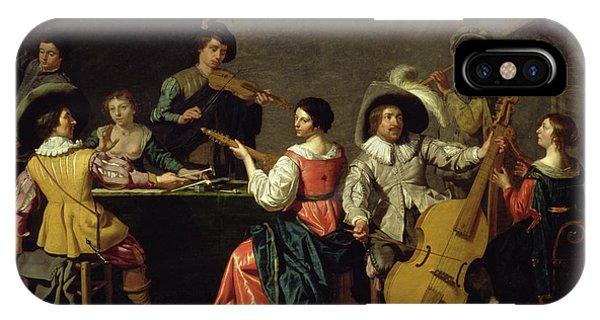 Wine Pouring iPhone Case - Group Of Musicians by Jan van Bijlert or Bylert