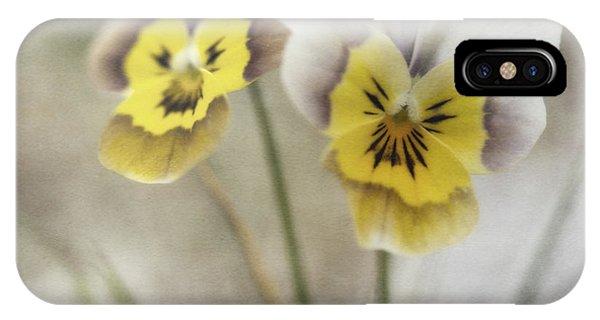 Yellow Flowers iPhone Case - Growing Wild by Priska Wettstein