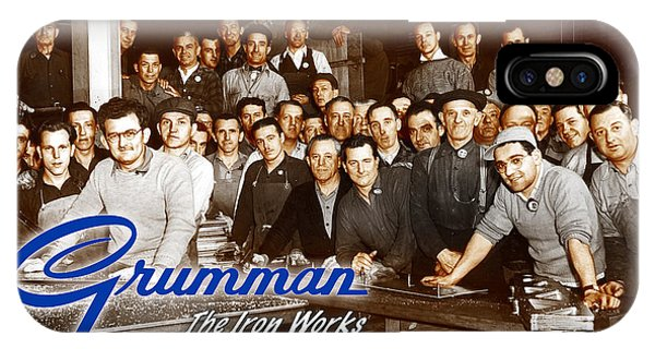 Grumman Iron Works Shop Workers IPhone Case