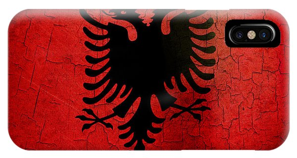 Grunge Albania Flag IPhone Case