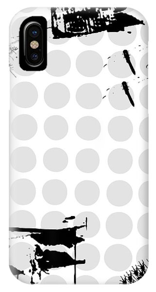 Grunge Background With Dragonfly Phone Case by Ozkan