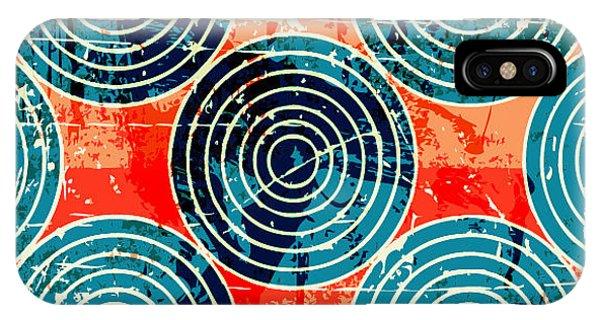 Futuristic iPhone Case - Grunge Circles Poster by Nik Merkulov