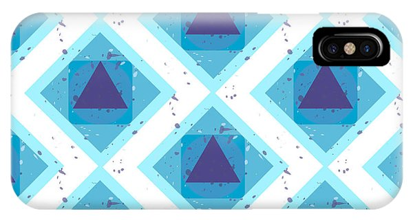 Grunge Colorful Abstract Geometric Phone Case by Barsrsind