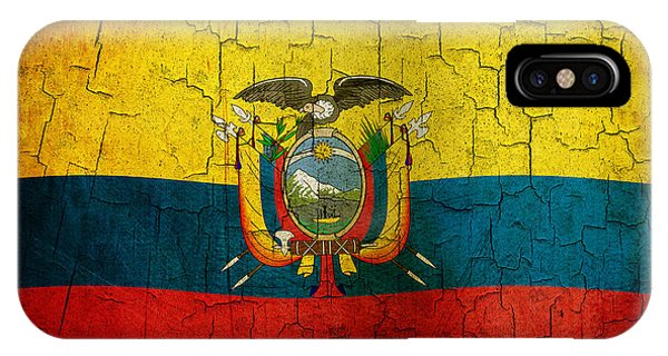 Grunge Ecuador Flag IPhone Case