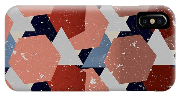 White Background iPhone Case - Grunge Geometric Background. Vector by Veronika M