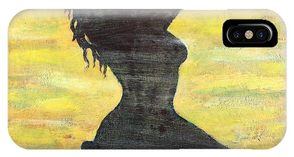 Grunge Girl Female Silhouette Pop Art IPhone Case