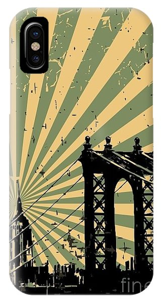 Texture iPhone Case - Grunge Image Of New York, Poster, Vector by Pgmart