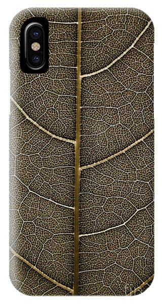 Grunge Leaf Detail IPhone Case