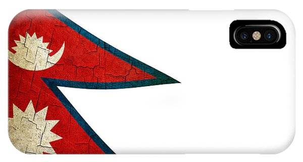 Grunge Nepal Flag IPhone Case