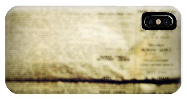 Vintage iPhone Case - Grunge Newspaper by Les Cunliffe