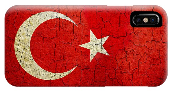 Grunge Turkey Flag IPhone Case