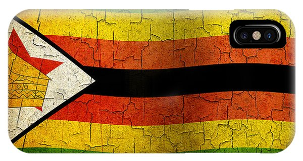 Grunge Zimbabwe Flag IPhone Case