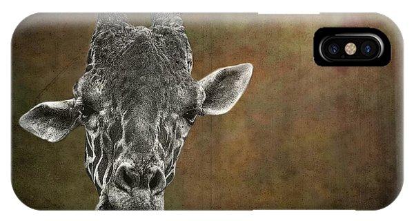 Grungy Giraffe 5654 Brown IPhone Case