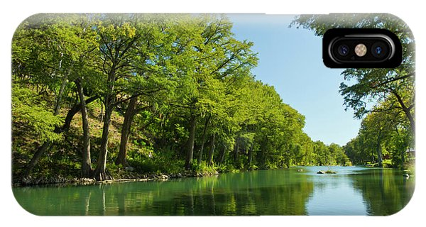 Bald Cypress iPhone Case - Guadalupe River And Bald Cypress Trees by Larry Ditto