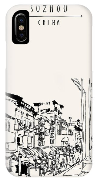 Exterior iPhone Case - Guanqian Street In Suzhou, Jiangsu by Babayuka