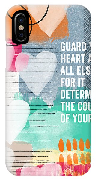 Guard Your Heart- Contemporary Scripture Art IPhone Case
