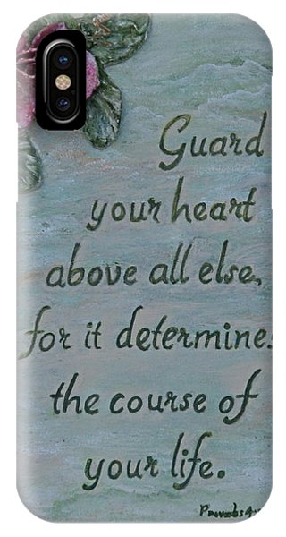 Guard Your Heart Phone Case by Mary Grabill