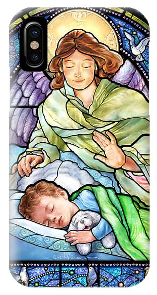 Guardian Angel With Sleeping Boy IPhone Case