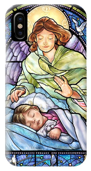 Guardian Angel With Sleeping Girl IPhone Case