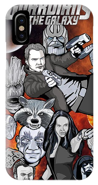 Guardians Of The Galaxy Collage Phone Case by Gary Niles
