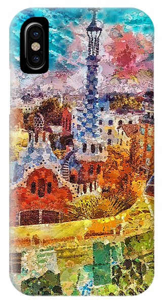 Gaudi iPhone Case - Guell Park by Mo T