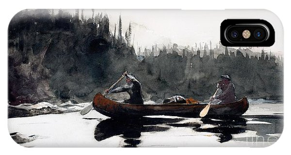 Shooting iPhone Case - Guides Shooting Rapids by Winslow Homer