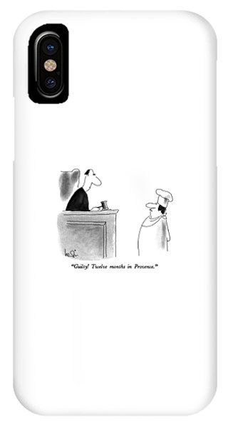 Guilty!  Twelve Months In Provence IPhone Case