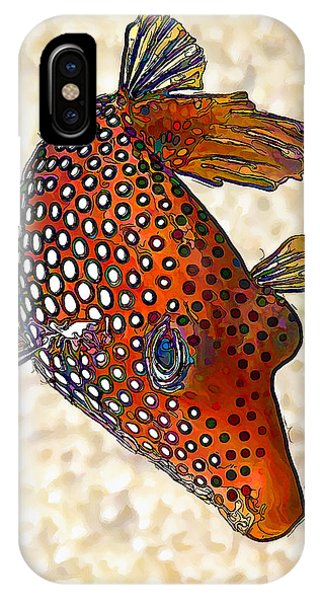 Guinea Fowl Puffer Fish IPhone Case