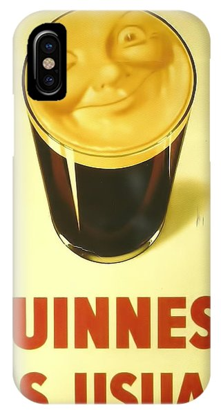 St. Patricks Day iPhone Case - Guinness As Usual by Georgia Fowler