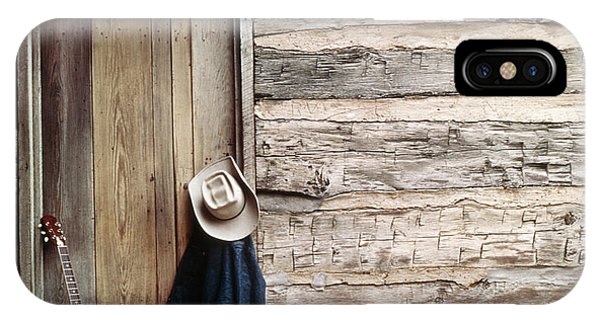 Guitar Hat And Jacket By Weathered Barn IPhone Case