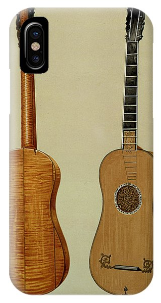 Baroque iPhone Case - Guitar Made By Antonio Stradivarius by Alfred James Hipkins