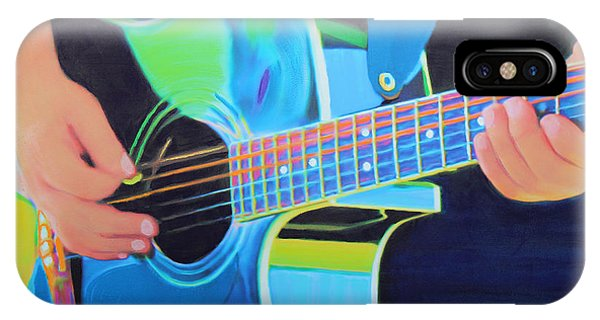 IPhone Case featuring the painting Guitar Man by Deborah Boyd