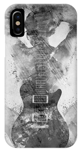 Rock And Roll Art iPhone Case - Guitar Siren In Black And White by Nikki Smith