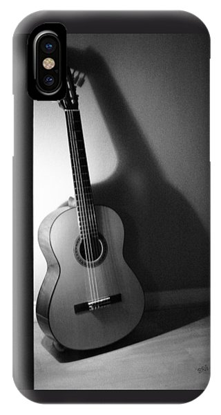 Guitar Still Life In Black And White IPhone Case