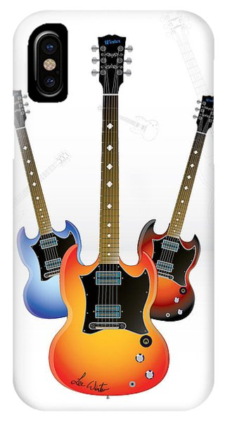 iPhone Case - Guitar Style by Lee Wolf Winter