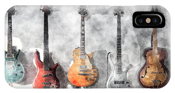 Guitars On The Wall IPhone Case
