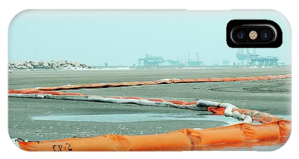 Tidal Marsh iPhone Case - Gulf Of Mexico Oil Spill Containment 2010 by U.s. Coast Guard/science Photo Library