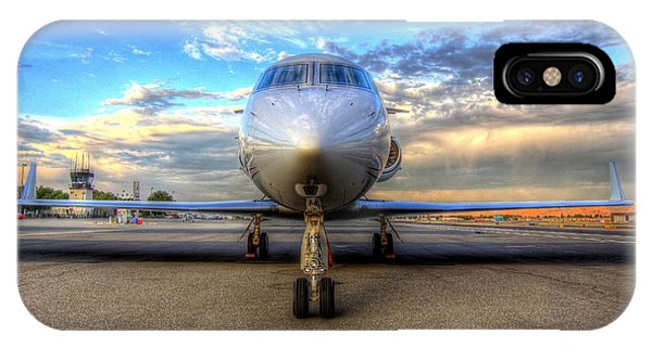 Gulfstream Gx450 At Livermore Klvk With Virga IPhone Case