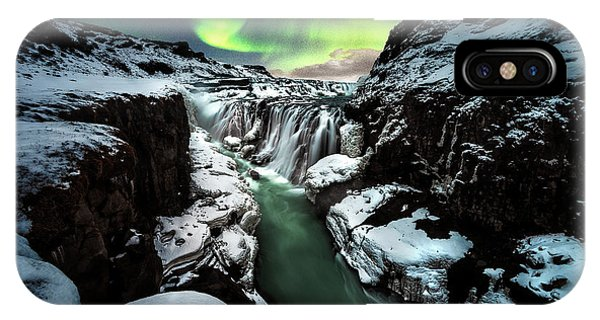 Flow iPhone Case - Gullfoss by David Mart??n Cast??n