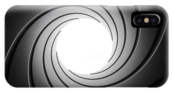 Closeup iPhone Case - Gun Barrel From Inside by Johan Swanepoel