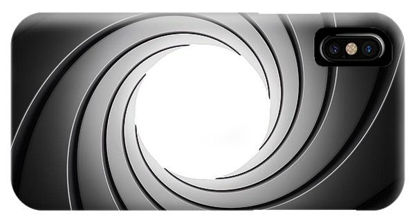 Gun Barrel From Inside IPhone Case